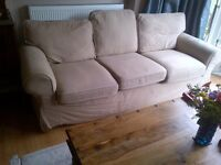 large comfortable three seater sofa with removable covers can deliver