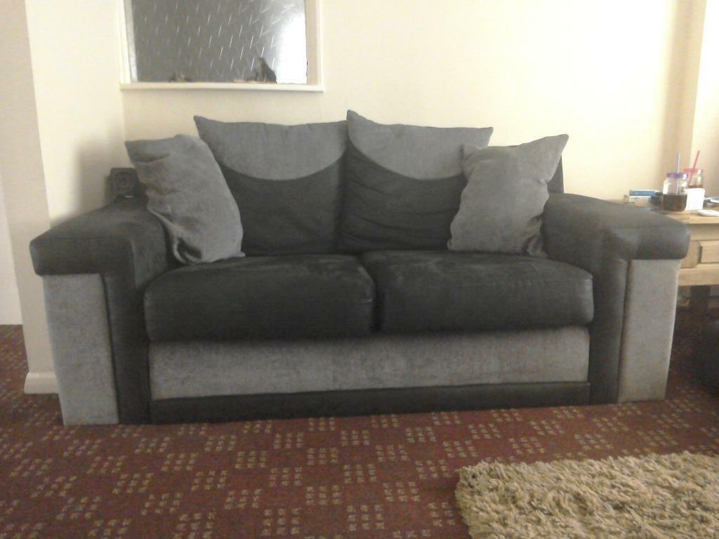 Scs Two Setter Sofa Black Gray In Nottingham
