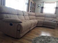 Corner sofa recliner suite