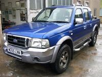 55 Ford Ranger Wildtrak 4x4 double cab low miles 90k No vat