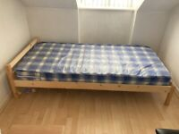Children's Single Bed & Mattress