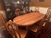 Beautiful Vietnamese Hardwood Dining Table & 8 Chairs