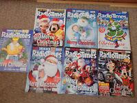 CHRISTMAS RADIO TIMES X 8 2001-2016 BRAND NEW, (CHRISTMAS DOUBLE ISSUES) £50