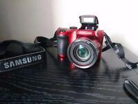 Samsung WB100 16MP 26X Super Optical zoom Bridge Camera - Red