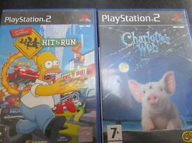 Two Playstation 2 Games, The Simpsons Hit And Run And Charlottes Web