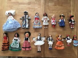 Quality vintage dolls with detailed clothing, poseable limbs, opening eyes, beautiful detailing