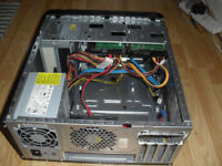 DELL VOSTRO 430 PC CASE WITH 2 X SATA DRIVES AND 2X SATA DVD WRITERS/ POWER UNIT