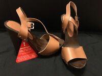 Brown heels size 5