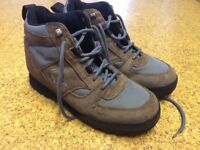 Walking boots. Hi-Tec size 6. Brown. Laces with top hooks. Excellent condition. Hardly used.