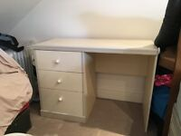 Matching Bedside unit and vanity/desk unit with drawers