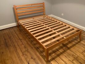 Wooden Double Bed - For Sale - £30