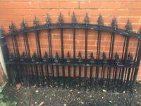 4 iron fence railings