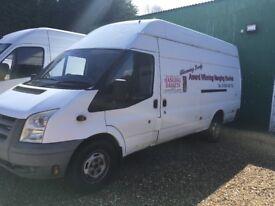 Long wheel based transit van