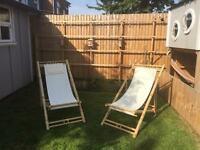 Foldable Bamboo deck chairs
