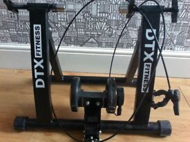 DTX Fitness Adjustable Bicycle Turbo Trainer - Black - Use Your Bicycle As An Exercise Bike