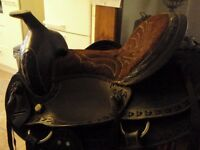 Cowboy Saddle suede and leather