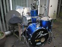 5-drum kit, complete with all h/ware, cymbals, etc....hardly used.