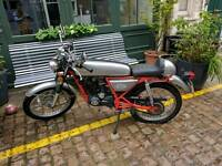 Motorbike 50cc classic cafe racer 2014 flat rear tyre