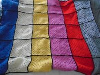 New Hand Made Crochet Blanket aprox 40 inches square