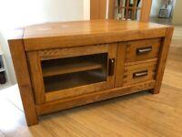 Halo Montana Corner TV stand / unit / cabinet - solid oak