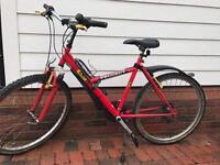 Red Peugeot Push Bike