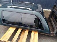 mitsubishi l200 snug top carry boy fibre glass green