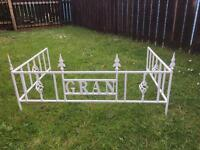 Wrought iron grave surrounds made to order