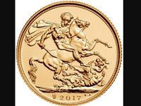 GOLD SOVEREIGNS WANTED 24HRS A DAY CASH