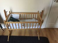Swinging crib cott bed