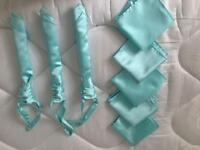 Mint green wedding cravats