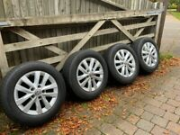 VW T6 Transporter Genuine Alloy Wheels And Tyres 16 Inch Set Of 4. 205-65-16
