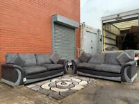 Grey & Black DFS Sofadelivery 🚚 sofa suite couch furniture
