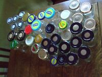 Assortment of 37 jars with lids