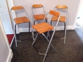 4 Folding Bar Chairs - Stools