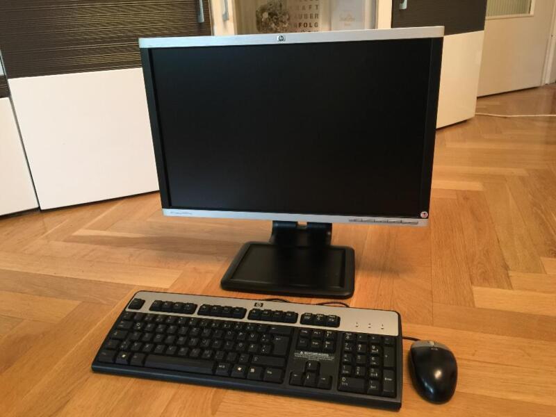 hp windows 7 sets mit 22 zoll monitor garantie rechnung. Black Bedroom Furniture Sets. Home Design Ideas