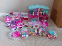 Shopkins bundle including Grand Mansion, convertible car and cutie car