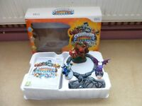 SKYLANDERS BUNDLE GAMES & FIGURES AS PICTURED ALL BOXED 2 GAMES FOR Wii +skylanders bag + 3 charact