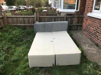 Small double bed base and headboard
