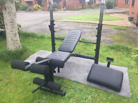 MARCY PRO Heavy Duty Weights Bench with leg extension
