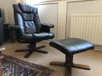 Recliner chair plus footrest - Must go - please make an offer