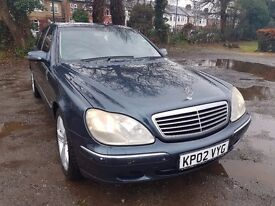 2002 Mercedes-Benz S Class 3.2 CDI Diesel Automatic full service history