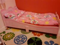 Castle Princess Junior, Toddler, Kids Bed with Foam Mattress