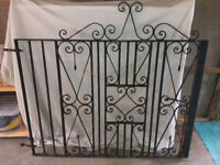 Pair of wrought irom gates.