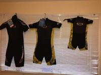 3 X Twf Kids Wetsuit Size : 8, K14 And k06. Brand new