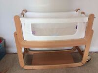 Baby Crib - Snuz Pod - Natural Materials - Goes Next to Bed or Separate - Suitable Birth to Sitting