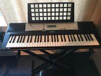 Yamaha Keyboard, stand and adjustable stool