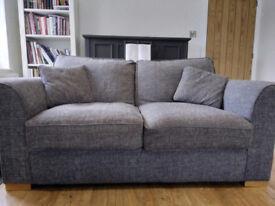 Gorgeous Designer Charcoal Grey Sofa 180 x 100 cm Excellent Condition Couch
