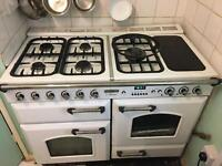 Double Oven Range Gas Cooker Leisure Blanc
