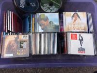 Box load of mixed cds.
