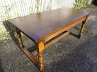Solid Oak Refectory Table – brand new